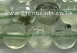 CCB728 15.5 inches 8mm faceted coin prehnite gemstone beads