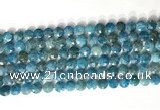 CCB763 15.5 inches 8mm faceted coin apatite beads