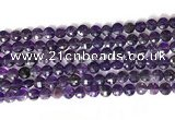CCB767 15.5 inches 8mm faceted coin amethyst beads