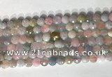 CCB768 15.5 inches 8mm faceted coin morganite gemstone beads