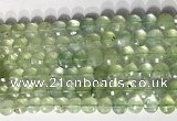 CCB771 15.5 inches 8mm faceted coin prehnite gemstone beads