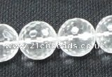 CCC257 15.5 inches 18mm faceted round grade A natural white crystal beads