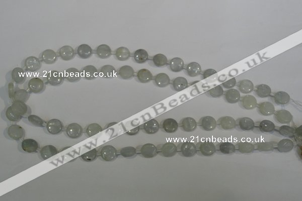CCE10 15.5 inches 10mm flat round natural celestite gemstone beads