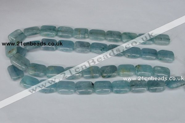 CCE54 15.5 inches 15*20mm rectangle dyed natural celestite gemstone beads