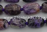 CCG112 15.5 inches 12*16mm drum charoite gemstone beads