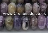 CCG136 15.5 inches 5*8mm rondelle natural charoite gemstone beads