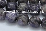 CCG23 15.5 inches 14mm round natural charoite gemstone beads