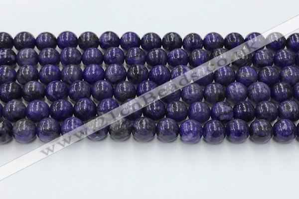 CCG316 15.5 inches 8mm round dyed charoite gemstone beads