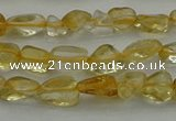 CCH672 15.5 inches 4*6mm - 5*8mm citrine gemstone chips beads