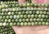 CCJ332 15.5 inches 8mm round green China jade beads wholesale