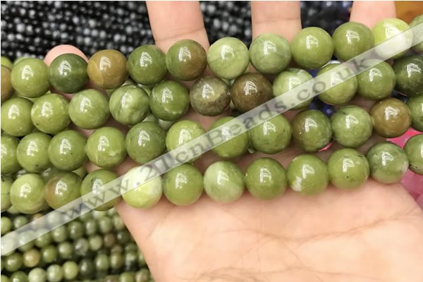 CCJ333 15.5 inches 10mm round green China jade beads wholesale