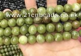 CCJ334 15.5 inches 12mm round green China jade beads wholesale