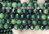 CCJ340 15.5 inches 12mm faceted round China green jade beads