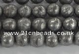 CCJ350 15.5 inches 8mm carved round plated China jade beads