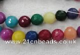 CCN1001 15.5 inches 4mm faceted round multi colored candy jade beads
