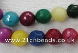 CCN1004 15.5 inches 10mm faceted round multi colored candy jade beads