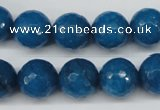 CCN1205 15.5 inches 14mm faceted round candy jade beads wholesale
