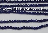 CCN1210 15.5 inches 3mm faceted round candy jade beads wholesale