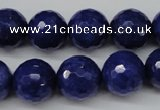 CCN1216 15.5 inches 14mm faceted round candy jade beads wholesale
