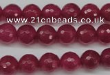 CCN1234 15.5 inches 10mm faceted round candy jade beads wholesale