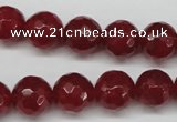 CCN1245 15.5 inches 12mm faceted round candy jade beads wholesale