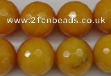 CCN1278 15.5 inches 18mm faceted round candy jade beads wholesale