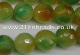 CCN1296 15.5 inches 14mm faceted round rainbow candy jade beads
