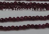 CCN1312 15.5 inches 3mm faceted round candy jade beads wholesale