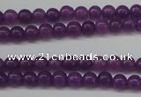 CCN1340 15.5 inches 4mm round candy jade beads wholesale