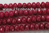 CCN1353 15.5 inches 5*8mm faceted rondelle candy jade beads