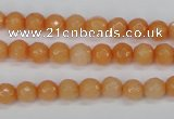CCN1821 15 inches 6mm faceted round candy jade beads wholesale