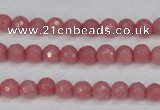 CCN1830 15 inches 4mm faceted round candy jade beads wholesale