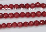 CCN1841 15 inches 6mm faceted round candy jade beads wholesale