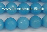 CCN1875 15 inches 14mm faceted round candy jade beads wholesale