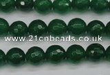CCN1974 15 inches 12mm faceted round candy jade beads wholesale