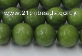 CCN2041 15 inches 14mm faceted round candy jade beads wholesale