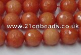 CCN2053 15 inches 10mm faceted round candy jade beads wholesale