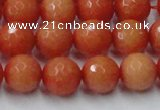CCN2054 15 inches 12mm faceted round candy jade beads wholesale