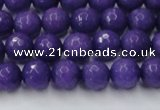 CCN2059 15 inches 8mm faceted round candy jade beads wholesale