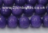 CCN2062 15 inches 14mm faceted round candy jade beads wholesale