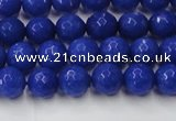 CCN2065 15 inches 6mm faceted round candy jade beads wholesale