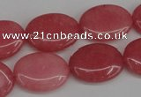 CCN2224 15.5 inches 15*20mm oval candy jade beads wholesale