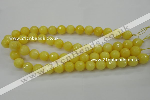 CCN2257 15.5 inches 12mm faceted round candy jade beads wholesale