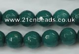 CCN2282 15.5 inches 12mm faceted round candy jade beads wholesale