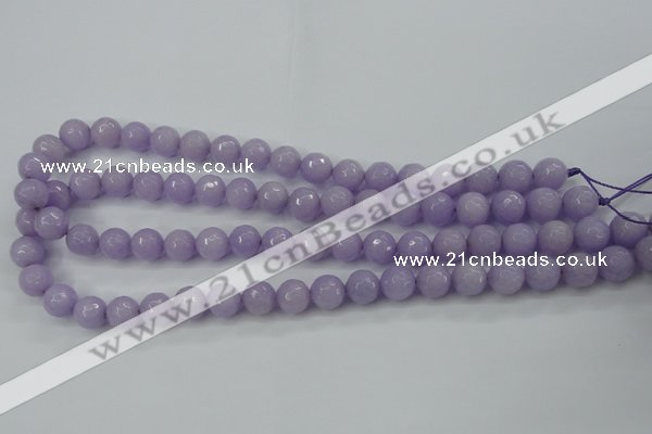CCN2289 15.5 inches 10mm faceted round candy jade beads wholesale