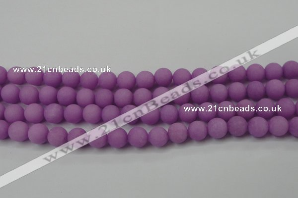 CCN2442 15.5 inches 8mm round matte candy jade beads wholesale