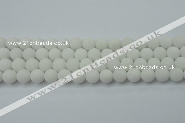 CCN2460 15.5 inches 10mm round matte candy jade beads wholesale