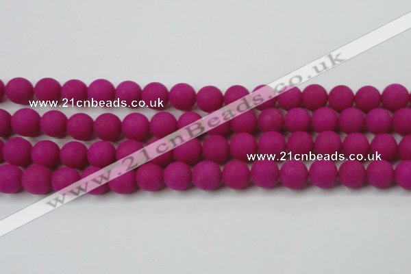 CCN2464 15.5 inches 10mm round matte candy jade beads wholesale