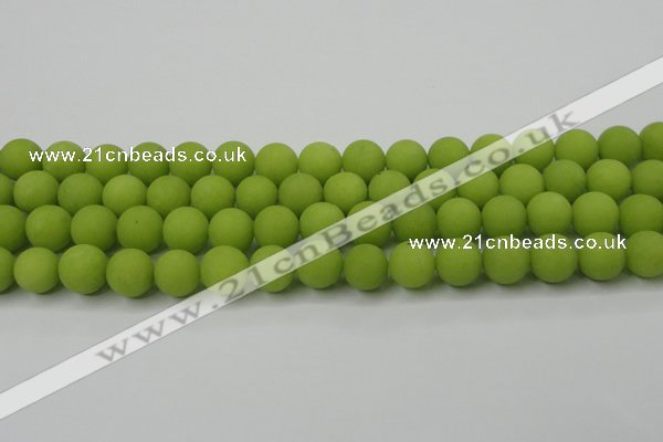 CCN2469 15.5 inches 10mm round matte candy jade beads wholesale