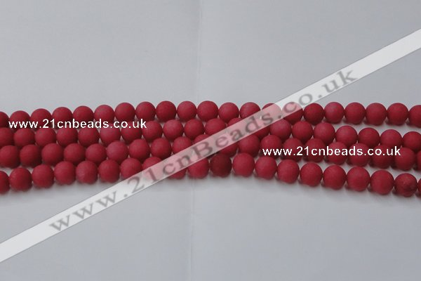 CCN2532 15.5 inches 10mm round matte candy jade beads wholesale
